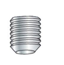Picture of 0402SSCBLK , Coarse Thread Socket Set Screw Cup Plain