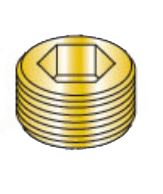 Picture of 00125PPSB , Socket Pipe Plug Brass